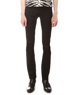 Saint Laurent Stretch-Denim Jeans, Black