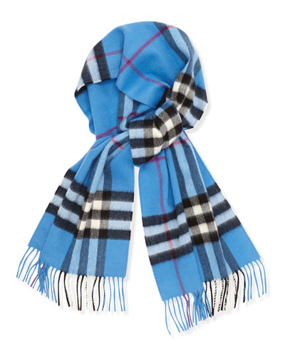 Men's Cashmere Giant Icon  Scarf, Blue