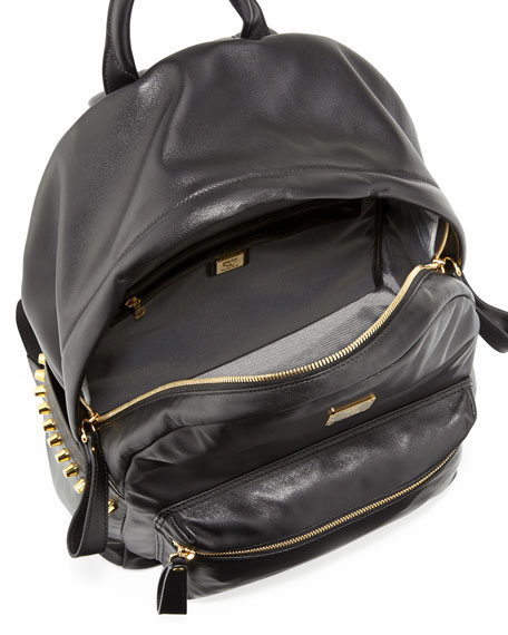 Men's Napa Side-Chain Detail Backpack, Black