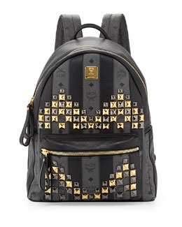 MCM Men's Monogrammed Crystal-M Backpack