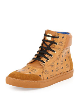 MCM Classic Street High-Top Sneaker