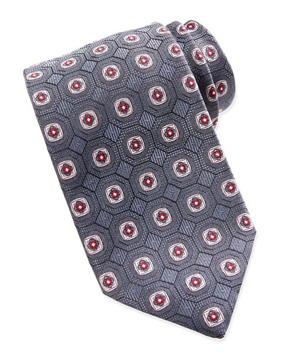Large Geometric Medallion Tie