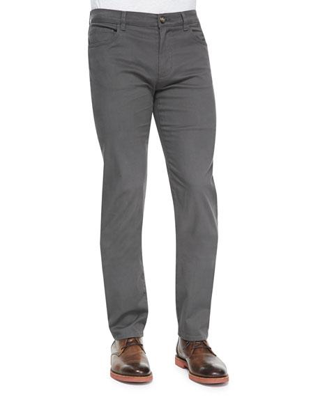 Vince 5-Pocket Stretch-Cotton Pants, Gray
