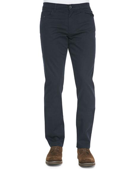 Vince 5-Pocket Stretch-Cotton Pants, Navy