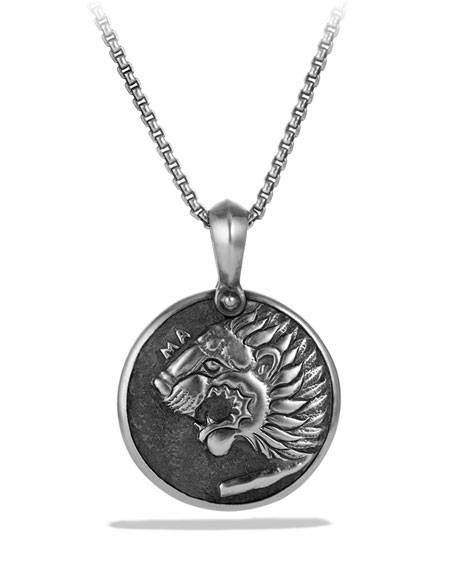 David Yurman Petrvs Lion Cameo Pendant