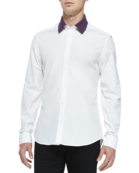 Kenzo button down shirt with polo collar white for White button down collar shirt