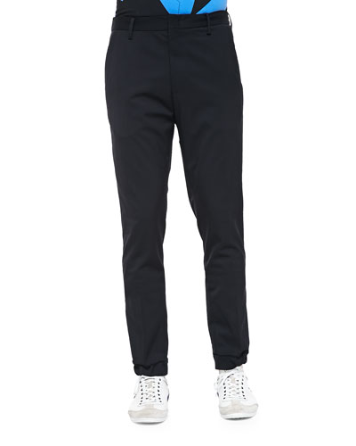 Kenzo Tech-Wool Jogger Pants, Black
