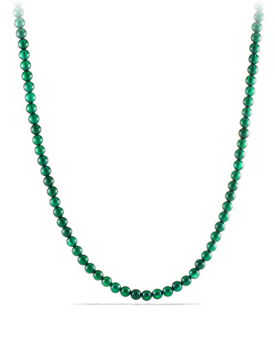 Spiritual Bead Necklace with Green Onyx
