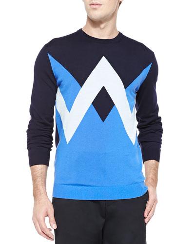 Kenzo Twin Peaks Crewneck Sweater, Navy