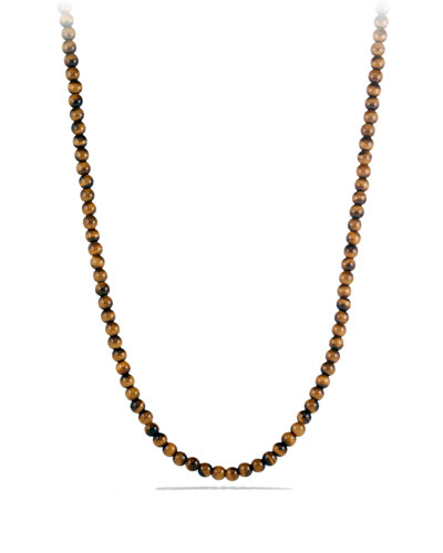 Spiritual Bead Necklace with Tiger