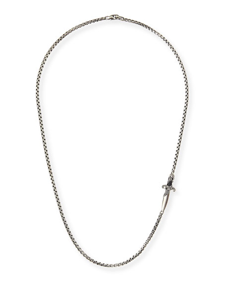 David Yurman Waves Dagger Station Necklace