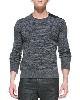 Belstaff Kilberry Space-Dye Sweater, Dark Gray