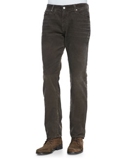 AG Adriano Goldschmied Graduate Corduroy Pants, Brown