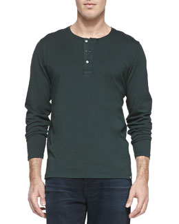 AG Adriano Goldschmied Commute Long-Sleeve Henley, Green