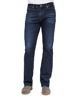 AG Adriano Goldschmied Protege Dark-Wash Denim Jeans