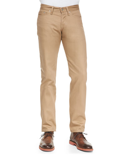 Naked and Famous Denim WeirdGuy Selvedge Chinos, Beige