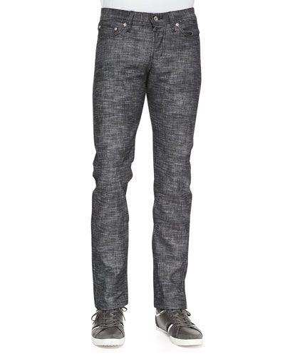 Naked and Famous Denim WeirdGuy Frankenstein Jeans, Black
