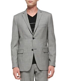 Theory Rodolf CF Hyco Suit Jacket, Black