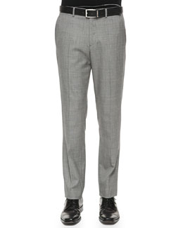 Theory Marlo Hyco Suit Pants, Black