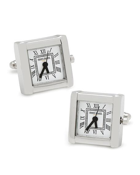 Cufflinks Inc. Square Watch Movement Cuff Links, Silver