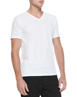 Rag & Bone Jersey V-Neck Tee, White