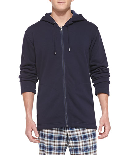 Bownes Jersey Hooded Sweatshirt, Navy