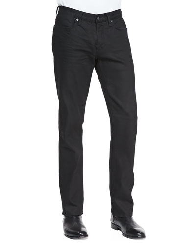 John Varvatos Star USA Coated Bowery Slim-Straight Jeans, Black
