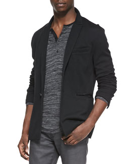 John Varvatos Star USA Two-Button Knit Jacket, Black