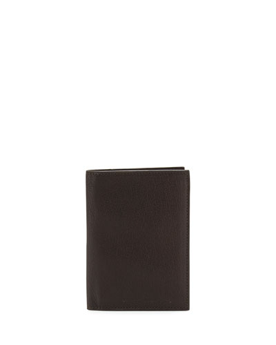 Leather Passport Holder, Brown