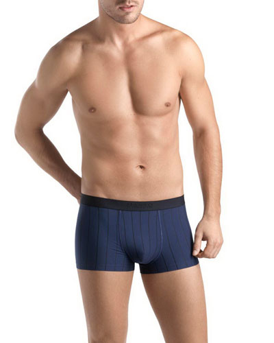 Shadow-Stripe Boxer Briefs, Navy