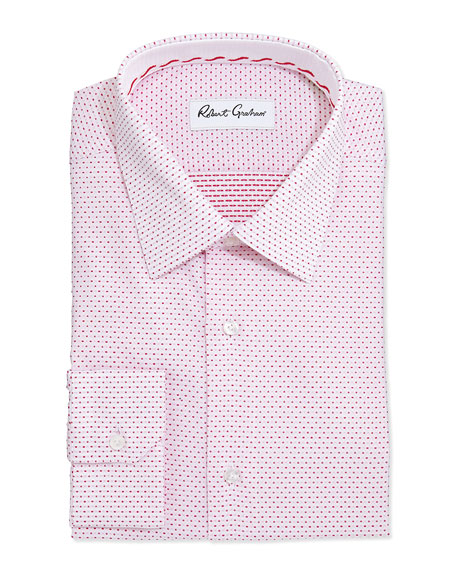 Clarence Pindot Dress Shirt, Berry