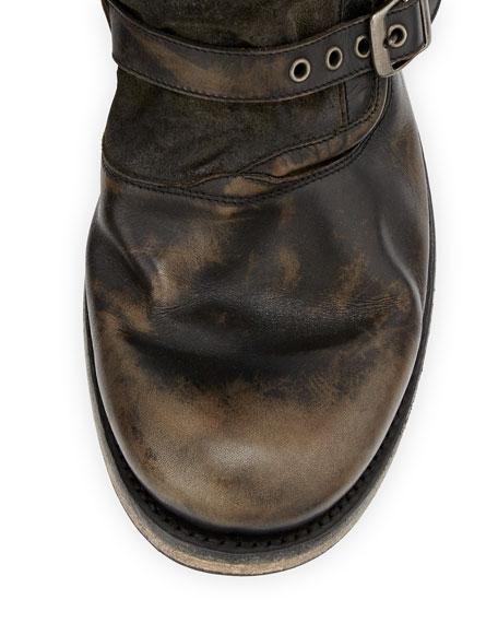John Varvatos Engineer Triple Buckle Boot Black