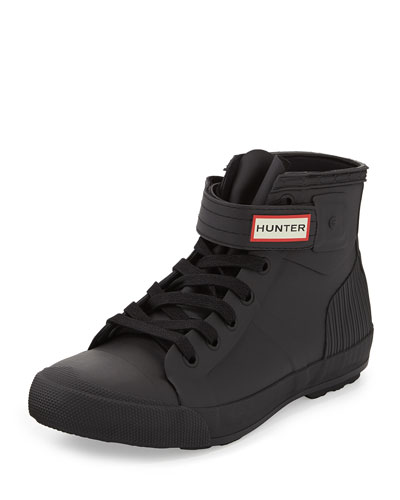 Hunter Original Rubber High-Top Sneaker, Black