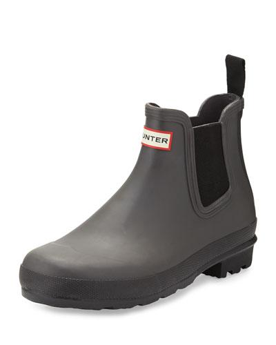 Hunter Original Gum-Sole Chelsea Boot, Light Gray