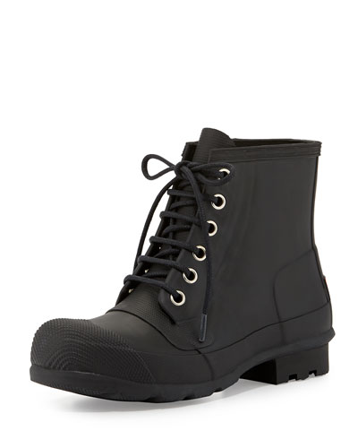 Original Rubber Lace-Up Boot, Black