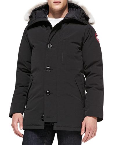 Canada Goose Chateau Arctic-Tech Parka with Fur Hood, Black