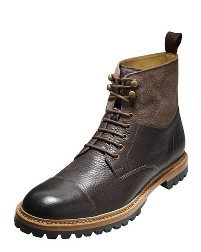 Judson Leather Cap-Toe Boot, Chestnut