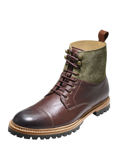 Judson Leather Cap-Toe Boot, Sequoia/Berkshire