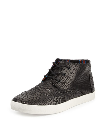 Paseo Snake-Print Mid-Top Sneaker