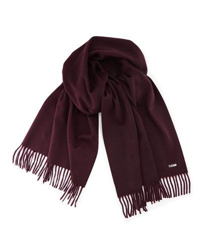 Loro Piana Sciarpa Grande Cashmere Scarf, Purple