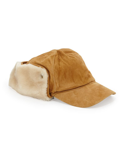 Lockwood Shearling Hat, Chestnut