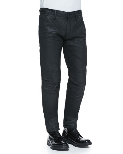 Black-Coated 5620 Tapered Jeans