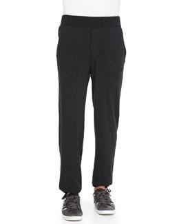 Neiman Marcus Cashmere Lounge Pants, Charcoal
