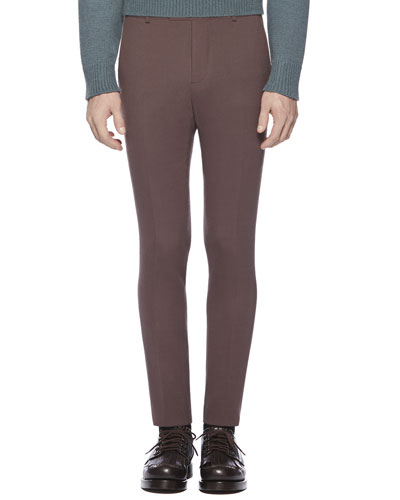 Gucci Stretch Crepe Sharp Pants, Dark Purple