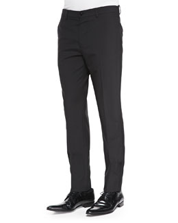 Maison Martin Margiela Slim-Fit Wool Trousers Black