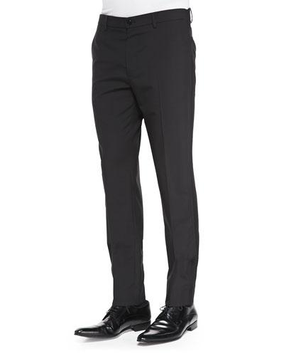 Maison Martin Margiela Slim-Fit Wool Trousers Black