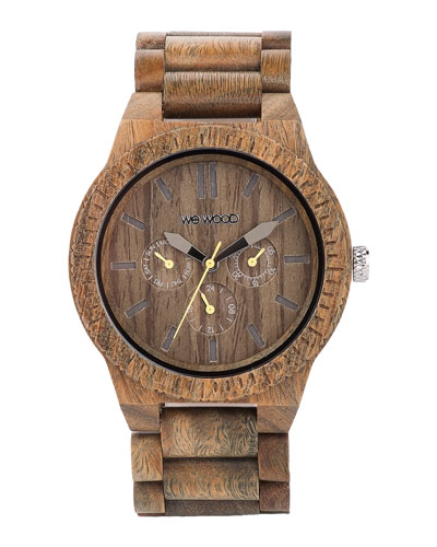 WeWood Watches Kappa Army Wood Chrono Watch, Olive