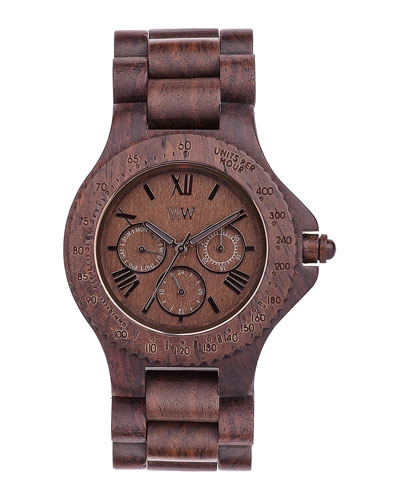 WeWood Watches Sitah Indian Rosewood Wood Chrono Watch