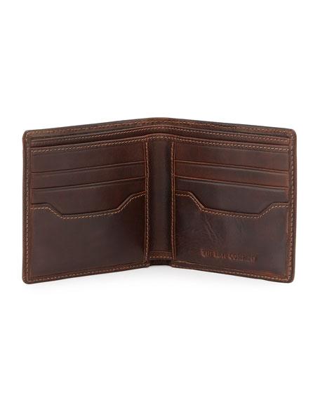 Frye Logan Leather Bi-Fold Wallet, Dark Brown
