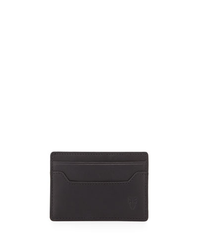 Logan Leather Card Case, Black